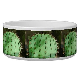Prickly Pear Cactus Large Pet Bowl