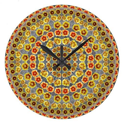 Prickly Pear Cactus Mandala Clock