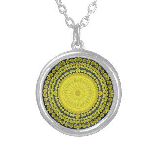 Prickly Pear Cactus Mandala Necklace