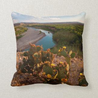 Prickly Pear Cactus (Opuntia Sp.) Throw Cushion