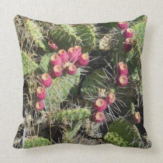 Prickly Pear Cactus Throw Cushions