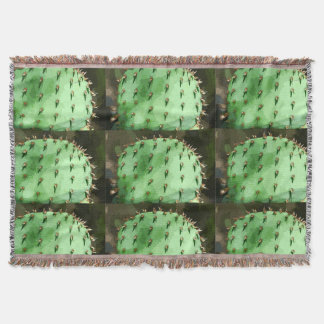 Prickly Pear Cartoon Throw Blanket