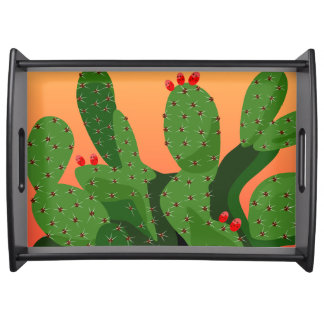 Prickly Pear Desert Sunset Serving Tray