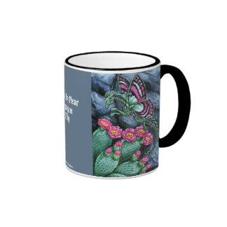 Prickly Pear Dragon Fly Mug