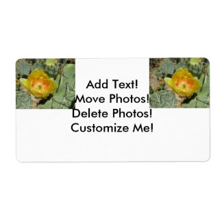 Prickly Pear Green Yellow Bloom Shipping Label