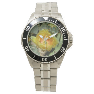Prickly Pear Green Yellow Bloom Watch