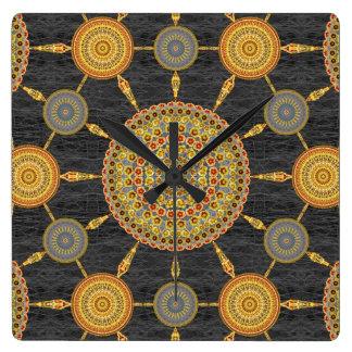 Prickly Pear Mandala Array Clock