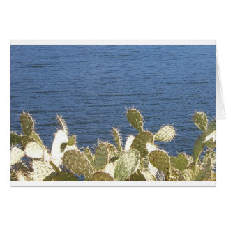Prickly Pear on the Lake Greeting Card