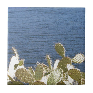 Prickly Pear on the Lake Ceramic Tiles
