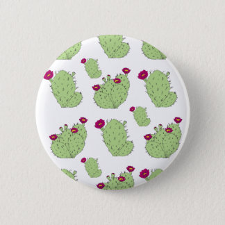Prickly Pear Pattern 6 Cm Round Badge