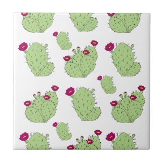 Prickly Pear Pattern Ceramic Tile