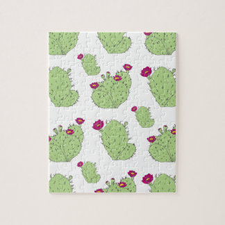 Prickly Pear Pattern Jigsaw Puzzle