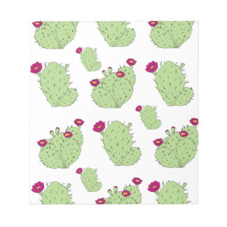 Prickly Pear Pattern Notepad