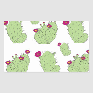 Prickly Pear Pattern Rectangular Sticker