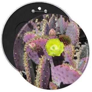 Prickly Pear Purple Yellow 6 Cm Round Badge