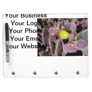 Prickly Pear Purple Yellow Dry Erase Whiteboard