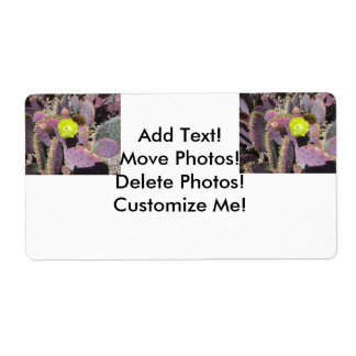 Prickly Pear - Purple Yellow Shipping Label