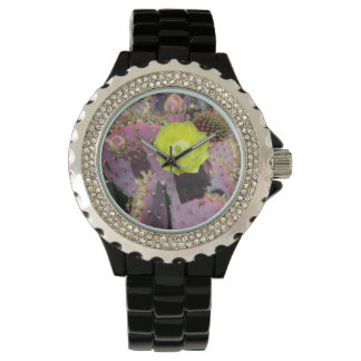 Prickly Pear - Purple Yellow Wristwatch