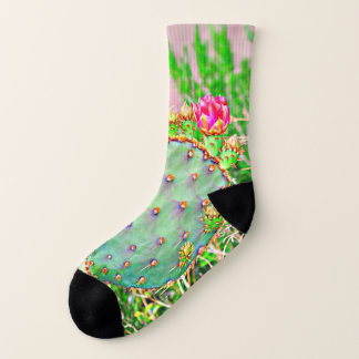 Prickly Pear with Pink Bloom Socks 1