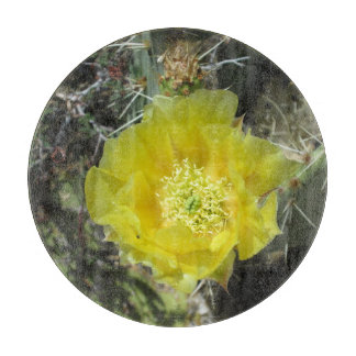 Prickly Pear Yellow Bloom Close Cutting Boards