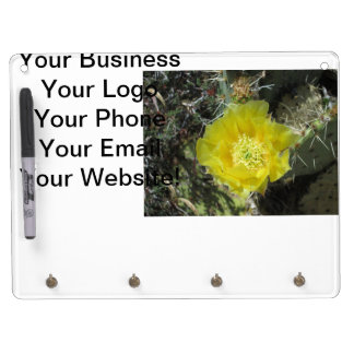 Prickly Pear Yellow Bloom Close Dry Erase Board