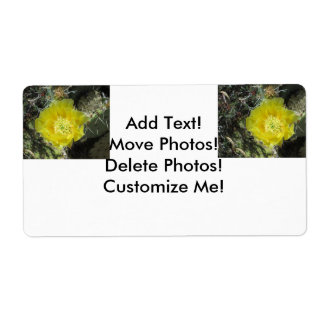 Prickly Pear Yellow Bloom Close Shipping Label