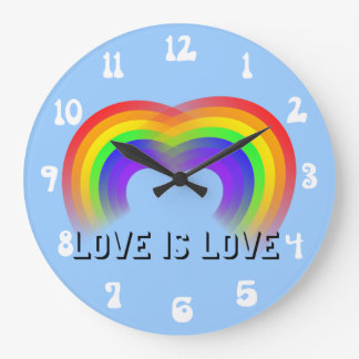 Pride and Equality Love is Love Wallclock