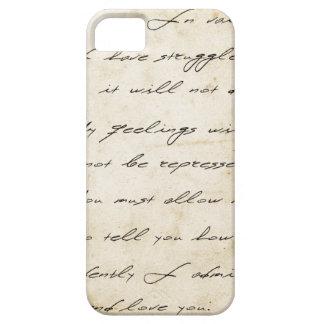 Pride and prejudice handwriting archival iPhone 5 case