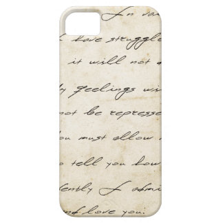 Pride and prejudice handwriting archival iPhone 5 covers
