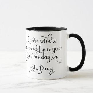 Pride and Prejudice Mr Darcy Quote Jane Austen Mug