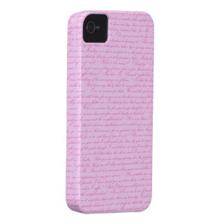 Pride and Prejudice - Pink iPhone 4 Case-Mate Case