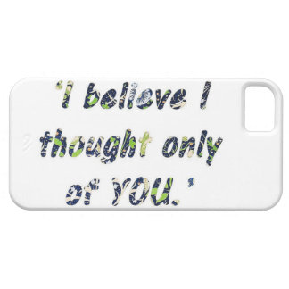 Pride and Prejudice Quote Barely There iPhone 5 Case