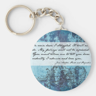 Pride and Prejudice Quote Basic Round Button Key Ring