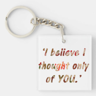 Pride and Prejudice Quote Customisable Key Ring