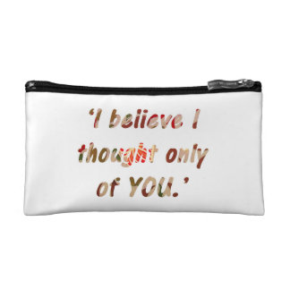 Pride and Prejudice Quote Customisable Makeup Bag