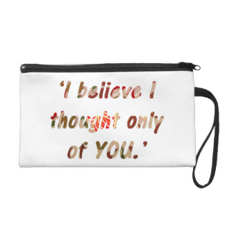 Pride and Prejudice Quote Customisable Wristlet