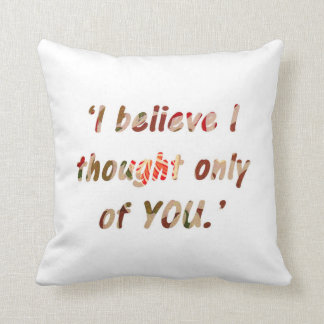 Pride and Prejudice Quote Double-Sided Cushion