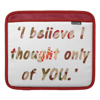 Pride and Prejudice Quote Double-Sided iPad Sleeve