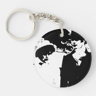 Pride and Prejudice Quote Double-Sided Round Acrylic Key Ring