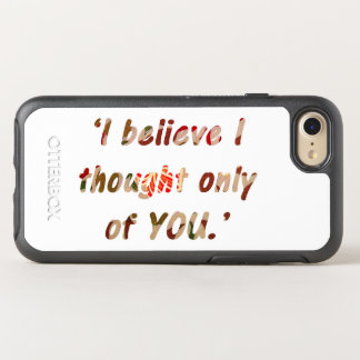 Pride and Prejudice Quote OtterBox Symmetry iPhone 7 Case