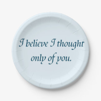 Pride and Prejudice Quote Paper Plate