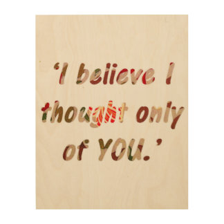 Pride and Prejudice Quote Wood Wall Art