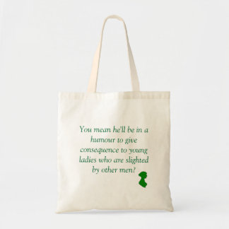 Pride and Prejudice: Slighted by Other Men Budget Tote Bag