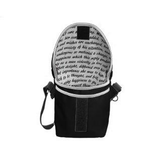 Pride and Prejudice Text Commuter Bag