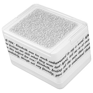 Pride and Prejudice Text Cooler