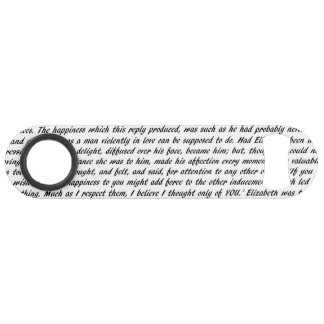 Pride and Prejudice Text Double-Sided