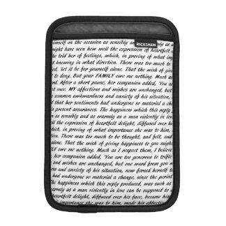 Pride and Prejudice Text iPad Mini Sleeve