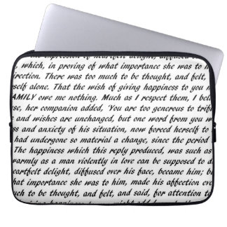Pride and Prejudice Text Laptop Sleeve
