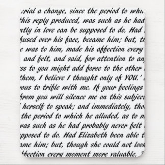 Pride and Prejudice Text Mouse Pad