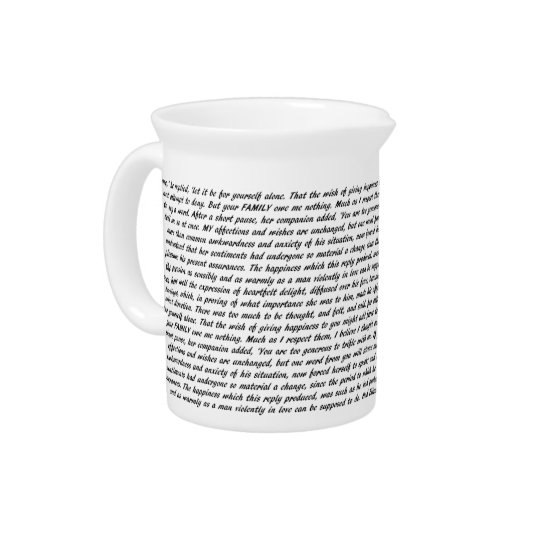Pride and Prejudice Text Pitcher